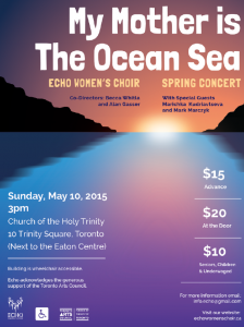 Poster for May concert of Echo Women's Choir